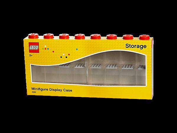 LEGO® Minifiguren Display für 16 Figuren, Schaukasten, rot